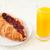 croissant · glas · sinaasappelsap · witte · voedsel - stockfoto © wavebreak_media