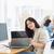női · mögött · asztal · iroda · fiatal · nő · dolgozik - stock fotó © wavebreak_media