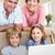 aile · dizüstü · bilgisayar · oturma · odası · portre · mutlu · aile · bilgisayar - stok fotoğraf © wavebreak_media