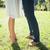 couples bare feet standing on grass stock photo © wavebreak_media