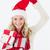 attractive woman wearing santa hat with gifts stock photo © wavebreak_media