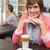mooie · brunette · koffie · natuur · zomer · denken - stockfoto © wavebreak_media