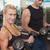 フィットネス女性 · バーベル · ジム · ブロンド · 強い · 女性 - ストックフォト © wavebreak_media