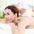bruna · massaggio · donna · felice - foto d'archivio © wavebreak_media