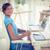 casual · estilista · trabalhando · secretária · escritório · mulher - foto stock © wavebreak_media
