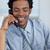 Afro-American businessman on phone in office stock photo © wavebreak_media