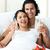 aşıklar · içme · şampanya · üst · görmek · genç - stok fotoğraf © wavebreak_media