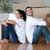 radiant couple with unpacking boxes moving to a new house stock photo © wavebreak_media
