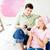 belo · caucasiano · casal · pintura · quarto - foto stock © wavebreak_media