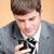 ビジネスマン · 書く · 携帯電話 · オフィス · ビジネス - ストックフォト © wavebreak_media