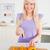 güzel · sarışın · kadın · modern · mutfak · iç - stok fotoğraf © wavebreak_media