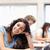 Porträt · lächelnd · jungen · Studenten · posiert · Klassenzimmer - stock foto © wavebreak_media