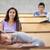 Öğrenciler · dinleme · sınıf · arkadaşı · uyku · amfitiyatro · mutlu - stok fotoğraf © wavebreak_media