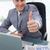 большой · палец · руки · вверх · сидят · бизнесмен · бизнеса · бумаги - Сток-фото © wavebreak_media