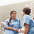 Nurses talking on stairs in hospital  stock photo © wavebreak_media
