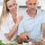 affectionate couple preparing dinner together stock photo © wavebreak_media