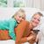 retrato · feliz · família · grande · assistindo · tv · sala · de · estar - foto stock © wavebreak_media