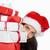 vrouw · veel · christmas · presenteert · witte - stockfoto © wavebreak_media