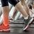 highlighted ankle of woman on treadmill stock photo © wavebreak_media
