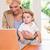 pretty blonde woman with his son using laptop stock photo © wavebreak_media