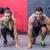 erkek · kadın · atlet · pozisyon · kadın · sağlık - stok fotoğraf © wavebreak_media