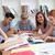 улыбаясь · подростков · изучения · библиотека · образование · девушки - Сток-фото © wavebreak_media