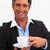 魅力的な · ビジネスマン · 飲料 · コーヒー · オフィス · 笑顔 - ストックフォト © wavebreak_media