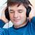 portret · kaukasisch · man · luisteren · muziek - stockfoto © wavebreak_media