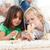 weinig · jongen · meisje · spelen · samen · woonkamer - stockfoto © wavebreak_media
