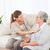 verpleegkundige · hartslag · patiënt · home · familie - stockfoto © wavebreak_media