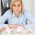triest · vrouw · vergadering · kantoor · spaarvarken · minder - stockfoto © wavebreak_media