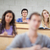 uśmiechnięty · studentów · słuchania · wykład · kamery · skupić - zdjęcia stock © wavebreak_media