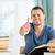 mannelijke · student · afgewerkt · boek · verslag · papier - stockfoto © wavebreak_media