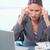 肖像 · 女性実業家 · 頭痛 · オフィス · 作業 · ペン - ストックフォト © wavebreak_media