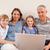 улыбаясь · семьи · сидят · диван · ноутбук · гостиной - Сток-фото © wavebreak_media