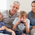 очаровательный · семьи · играет · Видеоигры · гостиной · любви - Сток-фото © wavebreak_media