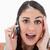Shocked woman making a phone call against a white background stock photo © wavebreak_media