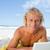 sonriendo · hombre · mirando · cámara · usando · la · computadora · portátil - foto stock © wavebreak_media