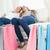 пару · девочек · сидят · диване · вместе · день - Сток-фото © wavebreak_media