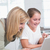 szczęśliwy · matka · córka · za · pomocą · laptopa · wraz · domu - zdjęcia stock © wavebreak_media