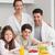 portrait of happy kids enjoying breakfast with parents stock photo © wavebreak_media