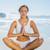 meditál · jóga · tenger · női · ül · óceán - stock fotó © wavebreak_media