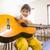 cute pupil playing guitar in classroom stock photo © wavebreak_media