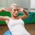 genç · kadın · egzersiz · uygun · top · güzel · sevimli - stok fotoğraf © wavebreak_media