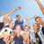 pretty football players celebrating their win stock photo © wavebreak_media
