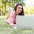 woman using laptop in park stock photo © wavebreak_media