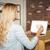 mulher · usando · laptop · restaurante · computador · relógio · trabalhar - foto stock © wavebreak_media