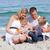 gülen · anne · aile · güneş · plaj - stok fotoğraf © wavebreak_media