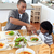 little boy dining with his father stock photo © wavebreak_media