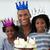 smiling father with his children celebrating a birthday stock photo © wavebreak_media